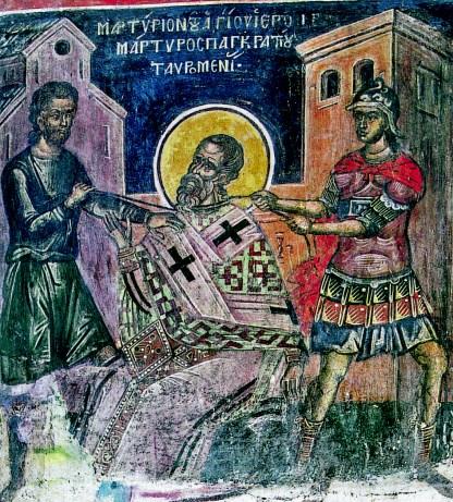Le martyre de saint Pancrace de Taormine.