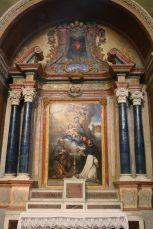 Notre-Dame de l'Assomption à Valloire : retable du rosaire.