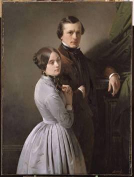 Édouard et Juliette Dubufe, par son père Claude-Marie Dubufe (1790-1864)
