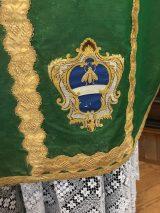 Sacro Monte de Varallo - chasuble armoriée du sanctuaire.