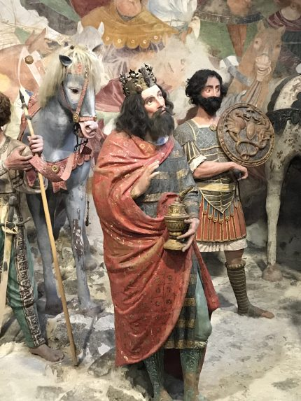 Sacro Monte de Varallo : les rois mages vont à Bethléem.