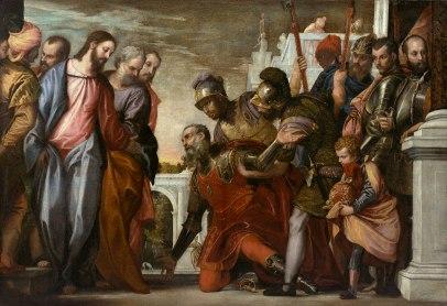 Le Christ et le centurion - Domine non sum dignus - Véronèse, circa 1575
