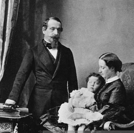 L'empereur Napoléon III, l'impératrice Eugénie et le Prince Impérial