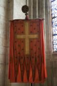 Basilique de Saint-Denis : l'oriflamme de Saint-Denis