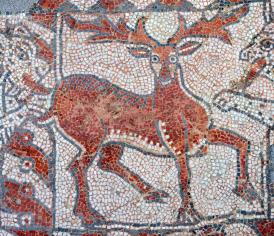 Vigile pascale - Mosaïque du baptistère de Valence (France) du VIème siècle.