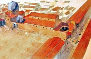 Reconstitution de la basilique constantinienne du IVème siècle