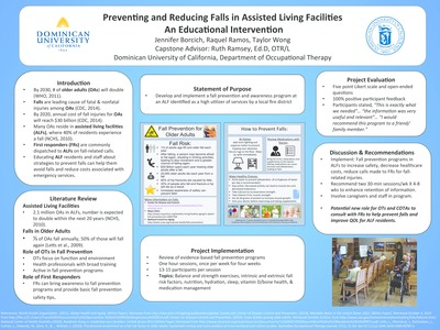 Occupational Therapy Student Research Posters