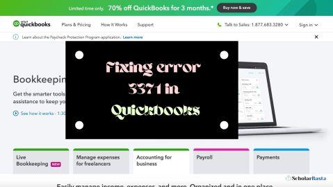 Fixing error 3371 in Quickbooks