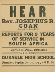 Coan Speaking Engagement Poster