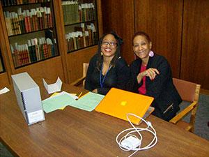 Mashadi Matabane and her mother, Paula Whatley Matabane, Associate Professor of Television and Film, Howard University , Washington, D.C.