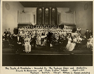 """""""The Death of Minnehaha"""" presented by The Tuskagee Choir and Orchestra,  April 1, 1939."""
