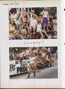 Atlanta Pride Parade, June 29, 1997. Number ONE float...