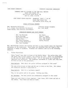 Town Hall transcript
