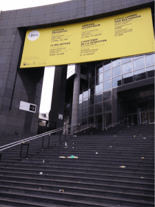 Figure 1: The debris on the steps of the Opera Bastille on a Monday Morning.