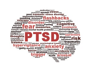 Figure 4: Buzz words to PTSD.