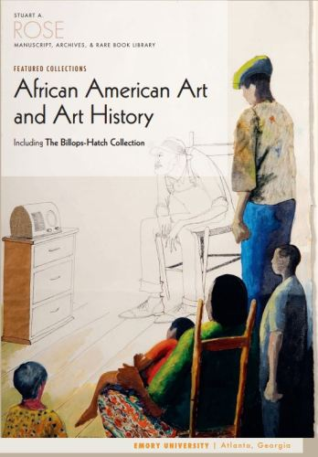 The cover of the Rose Library's pamphlet on its African American art and art history collections features a drawing by Benny Andrews.