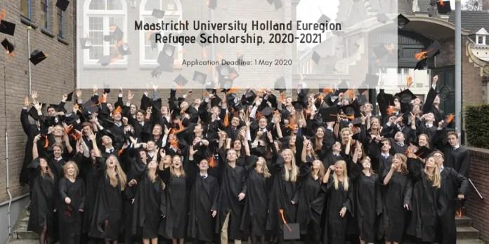 Image result for Maastricht University Holland Euregion Refugee Scholarship, 2020-2021