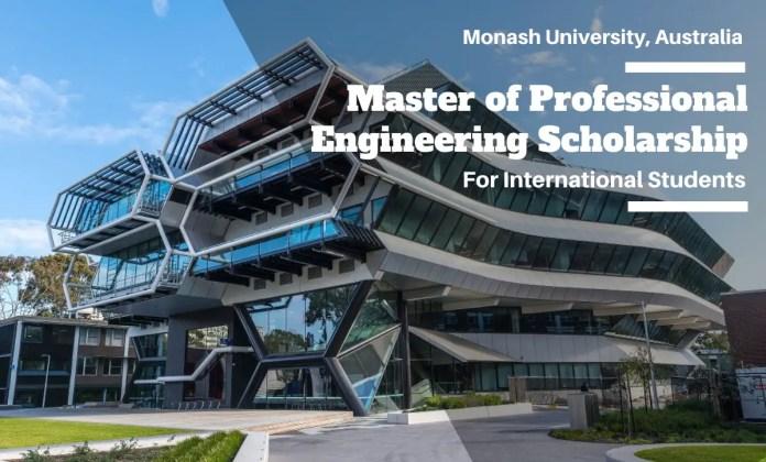 Image result for Master of Professional Engineering International Scholarship at Monash University, Australia