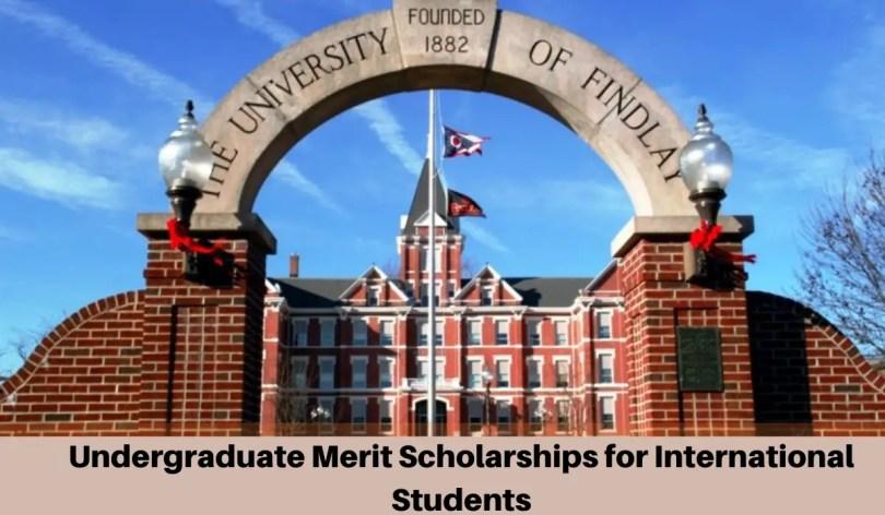 Image result for Undergraduate merit awards for International Students at University of Findlay, USA