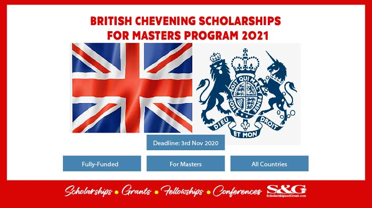 Chevening Scholarships online Application Form For 2020