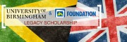 University of Birmingham & JN Foundation Legacy Scholarship