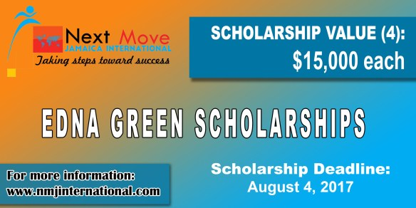 Edna Green Open Scholarships