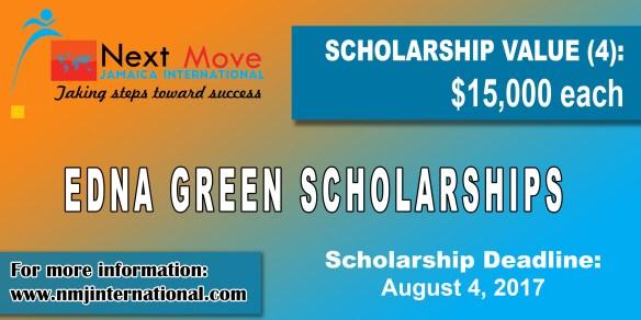 Edna Green Open Scholarships
