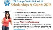 JTA Credit Union Tertiary Scholarships