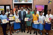 Custos of St. Catherine, Hon. Reverend Jeffrey McKenzie Awarded Top CSEC Students
