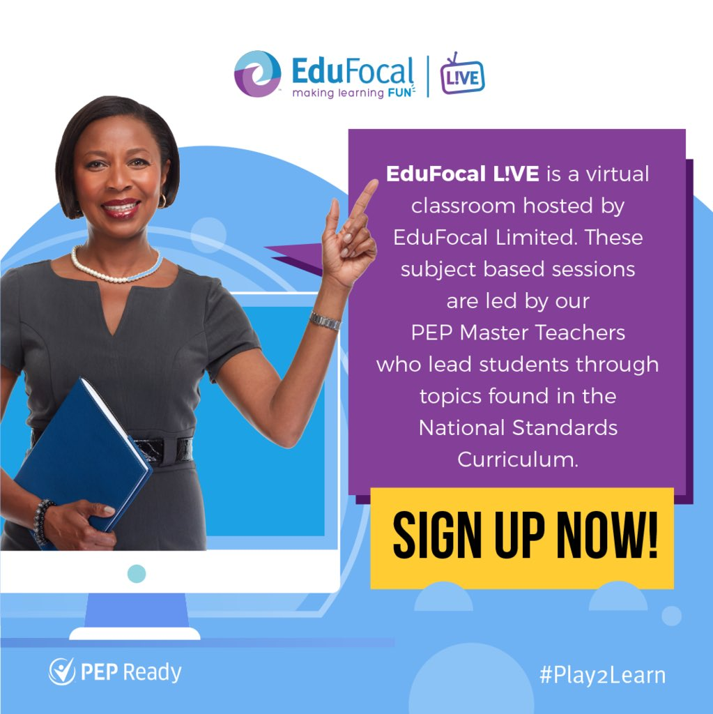 Sign up to EduFocal LIVE at http://edufocal.com today and you'll be eligible to access L!VE at NO COST to you. In response to the #Covid19 pandemic Edufocal is waiving all fees associated with this service.