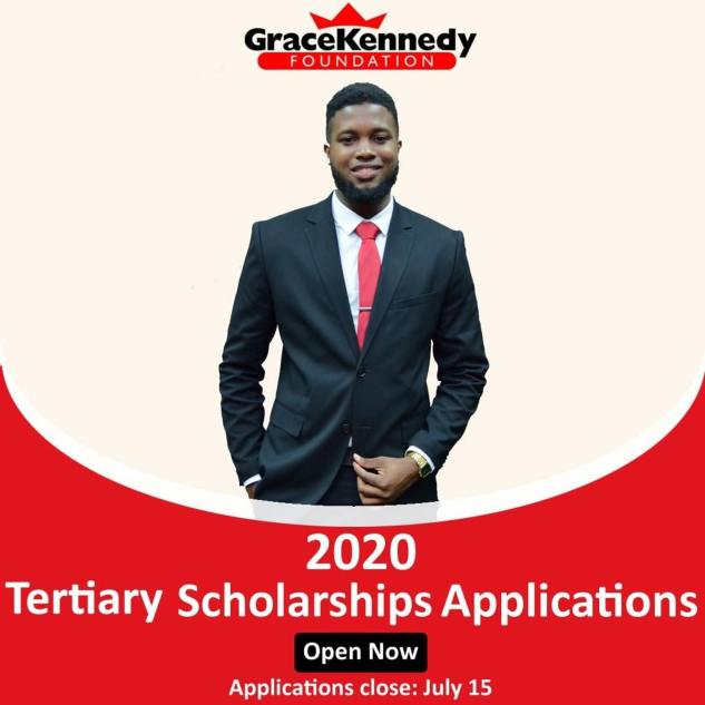 Apply for J$500,000 GraceKennedy JIEE Final Year Scholarship for Full-Time UTECH & UWI studies studying in a government sponsored STEM July 15.