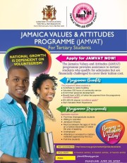 Jamaica Values and Attitudes (JAMVAT) Programme for Tertiary Students