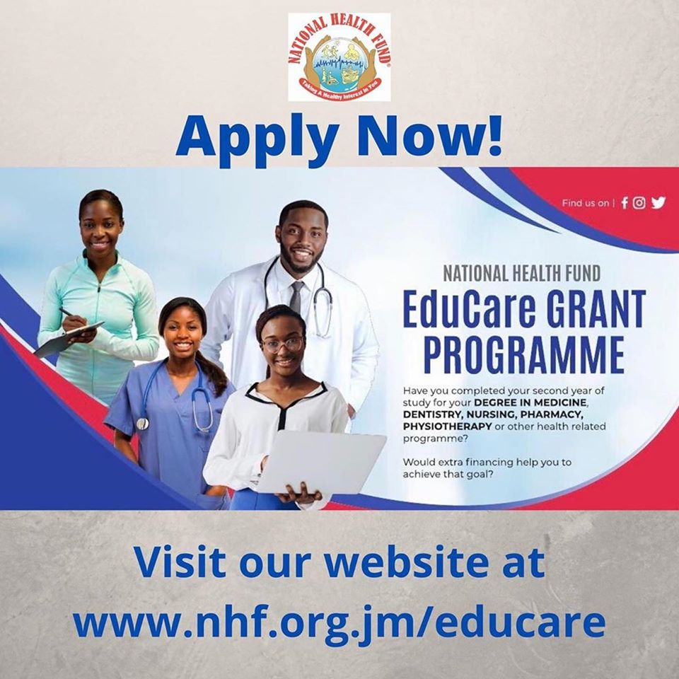 The National Health Fund EduCare Grant Programme provides assistance to students currently enrolled in a degree programme relating to the delivery of health care.