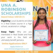 How to Win 2020 Una A. Robinson Scholarship in Real Estate Certification