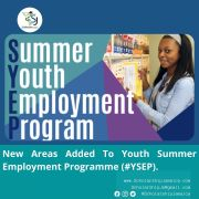 New Areas Added To Youth Summer Employment Programme
