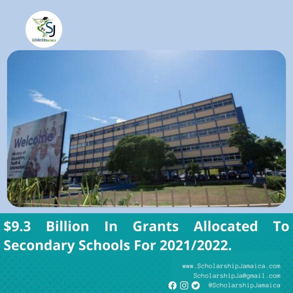 Billion In Grants Allocated To Secondary Schools For 2021