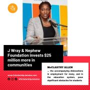 J Wray & Nephew Foundation invests $25 million more in communities