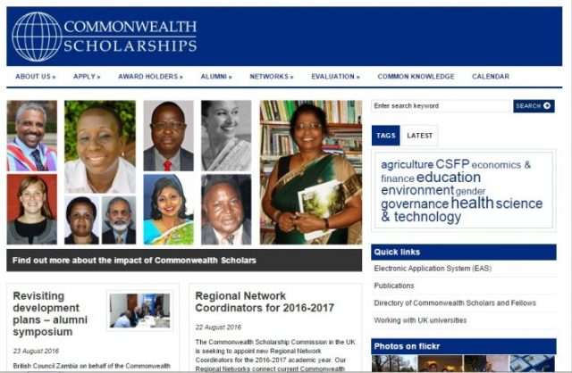 Common Wealth scholarship for students pursuing higher studies abroad