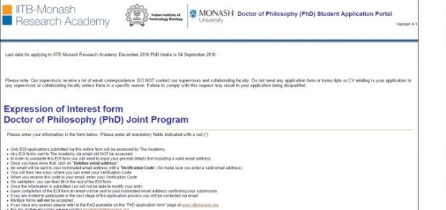 IIT B Monash Research Academy Scholarship for distinguished and remarkable phd scholars for helping them financially to carry out world class research