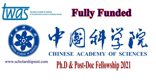 CAS-TWAS Ph.D and Post-Doc Fellowships 2021