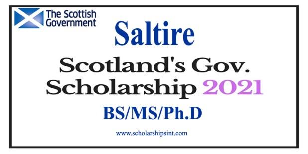 Saltire Scotland Government Scholarship