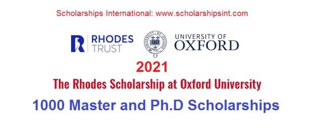 The Rhodes Scholarship at Oxford University