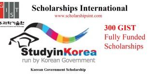 GIST South Korea-Government-Scholarship-Program 2021