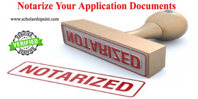 Notarize Your Application Documents