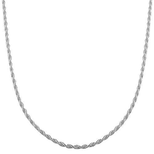 COZMOS Feine Silberkette Kordelkette Seilkette Halskette
