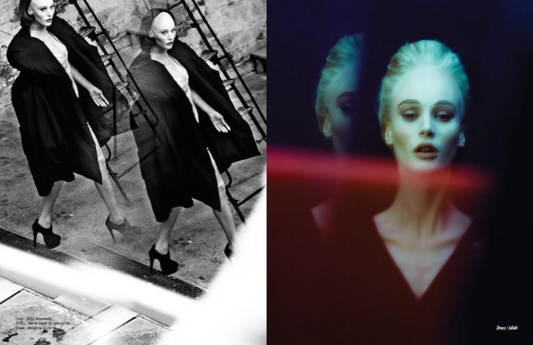 Coat / Yohji Yamamoto Dress / Hervé Léger by Max Azria Shoes / Azzedine Alaïa Opposite Dress / MM6