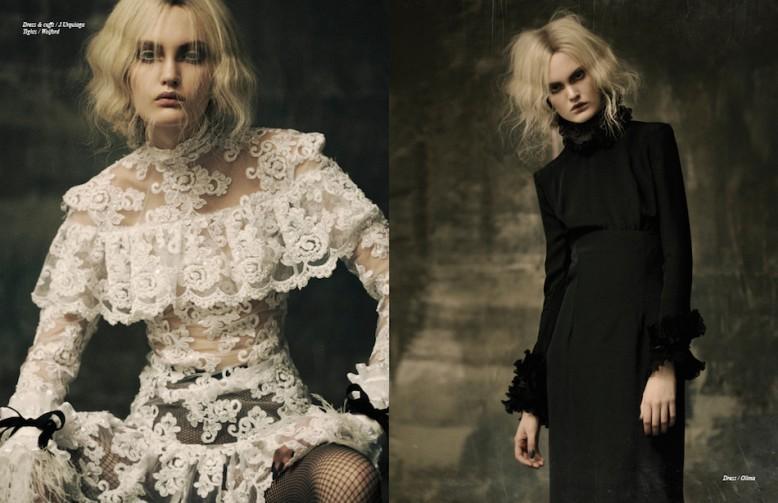 Dress & cuffs / J.Urquiaga Tights / Wolford Opposite Dress / Olima