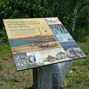 roadside interpretive sign