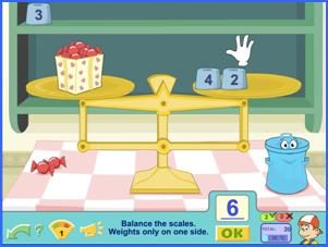 practice with scales maths game with Pipo