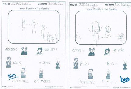 Reception Spanish - La familia